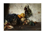 A Still-Life of Vegetables by a Wall, 1890 Giclee Print by Albin Egger-lienz