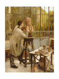 A Sculptor in His Studio Giclee Print by Edouard-Joseph Dantan