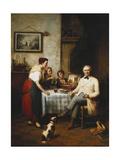 The Artist's Lunch, 1878 Giclée-Druck von Francois Verheyden