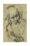 Saint Peter Meditating; Saint Pierre Meditant Lámina giclée por Bernardo Strozzi