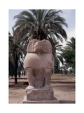 One of the Colossal Statues of the God Thoth, in His Baboon Aspect, at Hermopolis Magna Giclee Print