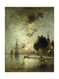 Moonlight; Clair De Lune, 1886 Giclee Print by Johan-Barthold Jongkind