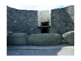 The Incised Entrance Stone in Front of the Mouth of the Passage to the Burial Chamber at Newgrange Giclee Print