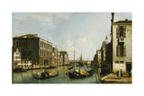 The Grand Canal, Venice, Looking East from the Campo S. Vio Giclee Print by  Canaletto