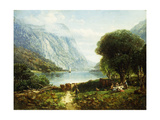 The Delaware Water Gap Giclee Print by Andrew Melrose