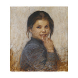 Portrait of a Girl Giclee Print by Maria Wiik