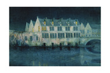The Night in Bruges; La Nuit a Bruges, 1897 Giclee Print by William Degouve De Nuncques