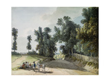 On the Road to Tonbridge: Travellers Resting on a Band Beside the Road Giclee Print by Paul Sandby