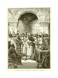 Crusaders Proclaiming Godfrey of Bouillon King of Jerusalem Giclee Print