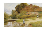 Watching the Ducks Giclee Print by Arthur Claude Strachan