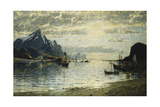 A Fjord Scene with Sailing Vessels Giclee Print by Adelsteen Normann