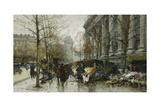 La Madelaine, Paris Giclee Print by Eugene Galien-Laloue