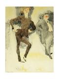 On Stage Giclee-trykk av Charles Demuth