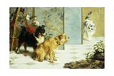 Playful Friends, 1892 Giclée-Druck von Charles Van Den Eycken