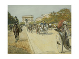 Elegant Figures before the Arc De Triomphe, Paris Giclee Print by Georges Stein