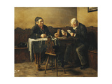 The Card Players, 1887 Giclee Print by Anton Muller