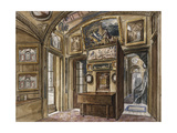 The Breakfast Room in Sir John Soane's Museum at 13 Lincoln's Inns Fields, Looking South into the… Giclee Print by Charles James Richardson