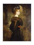 Portrait of a Lady, Standing Three-Quarter Length Giclee Print by Franz Seraph von Lenbach