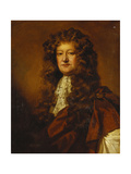 Portrait of a Gentleman, Bust Length, in a Brown Cloak and a White Jabot Giclee Print by Willem Wissing