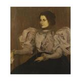 Portrait De Madame Besnard, C.1896 Giclee Print by Edmond-francois Aman-jean