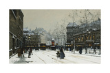 Gare Du Nord, Paris Giclee Print by Eugene Galien-Laloue