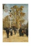 L'Avenue Victoria, 1876 Giclée-Druck von Pierre Vauthier