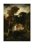 Woods by a River, 1886 Giclee Print by Thomas Moran