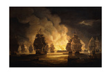 The Battle of Algiers: the Bombardment, 1824 Giclée-Druck von Thomas Luny