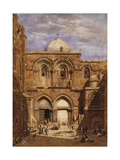 Entrance to the Church of the Holy Sepulchre, Jerusalem, 1862 Giclee Print by Carl Friedrich Heinrich Werner