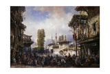 Square of the Tartars, Bahceka, 1854 Giclee Print by Carlo Bossoli