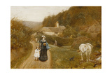 A Country Walk Giclee Print by George John Pinwell