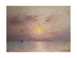 Sailing on the Sea, Evening; Voiliers Sur La Mer, Le Soir Giclee Print by Fernand Loyen du Puigaudeau