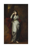 Il Penseroso, or Melancholy: a Female Figure, Full Length, Wearing Pale Green Robes, Standing in… Giclee Print by George Romney