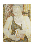 Portrait of Mrs Ody Holding a Book Giclee Print by Jessica Stewart Dismorr