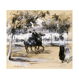 Riverside Drive Giclee Print by William James Glackens