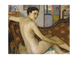 The Bather with Her Dog; La Baigneuse Avec Son Chien - De Baadster Met Hondje Giclee Print by Georges Lemmen