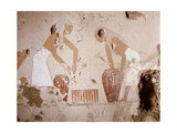 A Painting Detail in the Tomb of Senet Showing Bread Making Giclee Print
