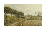 The Path in the Countryside; Le Chemin Dans La Campagne, 1876 Giclee Print by Alfred Sisley