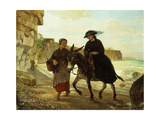 The Tourist and the Fisherwoman, 1870 Giclee Print by Henry Bacon