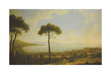A Panoramic View of Naples, the Bay of Naples, Portici, Vesuvius, the Sorrento Peninsula and… Giclee Print by Pietro Fabris