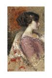 Portrait of a Young Girl; Portrait De Jeune Fille - Portret Van Een Jong Meisje Giclee Print by Georges Lemmen