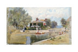 A Summer Day on the Canal Giclee Print by Francis Hopkinson Smith