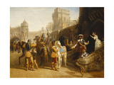The Countess of Derby's Departure from Martindale Castle, 1842 Giclee Print by John Frederick Herring Snr