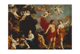 Sine Baccho Et Cerere Friget Venus Giclee Print by Giacinto Gimignani Or Gemignano