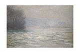Floods on the Seine Near Bennecourt; Debacle, La Seine Pres Bennecourt, 1893 Giclee Print by Claude Monet