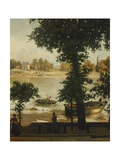 A Summer Evening at Cheyne Walk, 1870-71 Giclee Print by Cecil Gordon Lawson
