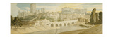 Durham Cathedral and Castle from the River Wear, 1811 Giclee Print by Francis Towne