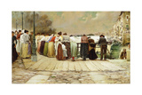 On the Bridge, 1893 Giclee Print by Enrique Serra