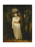 Portrait of Miss Harriett Anne Seale as Bo-Peep, Standing Full Length, in a Landscape, Wearing a… Giclee Print by John Hoppner
