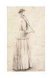 A Tennis Player; Study for 'Memories'; Une Joueuse De Tennis; or Du Lawn Tennis; Etude Pour… Giclee Print by Fernand Khnopff